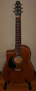 Seagull Godin S6+CW Left Hand Acoustic / Electric Guitar & Case