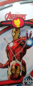 Iron man dog tag / necklace and bracelet set