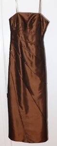Robe longue Café-Or