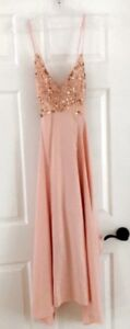 Satin skirt, sparkle top, strappy dress, formal, size small!