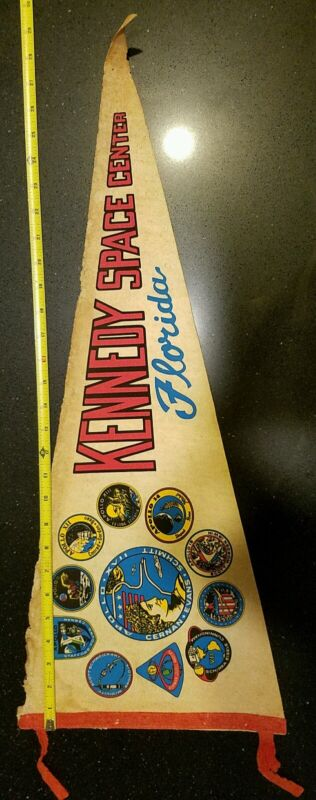 "Vintage 30"" Nasa Apollo Kennedy Space Center Pennant"