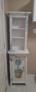 Moving-Fabulous White Hand-painted rustic cabinet