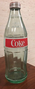 1 lt. Coke green glass Bottle with cap