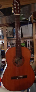 PAIR OF JAPANESE-MADE CLASSICAL GUITARS, PARLOR AND 3/4 SIZE
