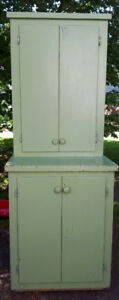"(1950""s) Stepback Cupboard Solid Plywood/Wood"