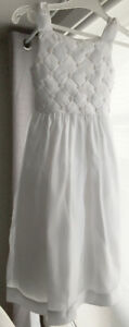 All white Communion or Flower Girl dress-Size 6 Price $70