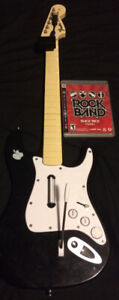PS3 Fender Stratocaster Rock Band Controller + Game Guitar Hero