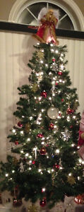 Reduced--7.5 foot pre lit Christmas tree