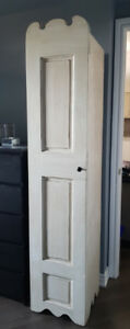 Solid Wood Tall Narrow Accent Cabinet