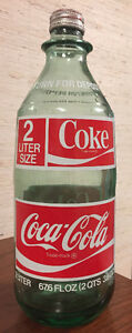 2 lt. Coke green glass Bottle with cap