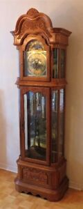 Ridgeway Antique Vintage Grandfather Clock Hand Made In USA 1991