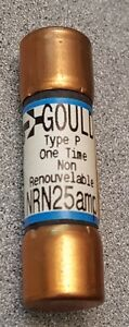 1 FUSIBLE FUSE ONE TIME 25 AMPERE 250 VOLT NEUF NRN25