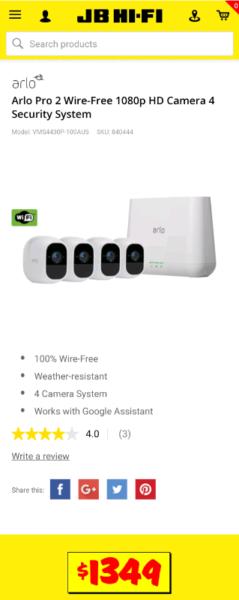 Arlo Pro 2 wireless security cameras X 4 | Video Cameras | Gumtree