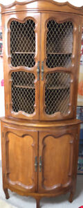 Beautiful antique corner display cabinet