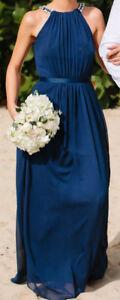 Wonder by Jenny Packham Navy Blue dress Long Size 0