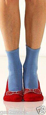 Mary Jane Slipper Socks Crew Non-Skid NWT Women's Sock Size