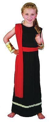 Mädchen # Antike Damen Römisch/Griechische Göttin Königin Schwarz Toga Kostüm