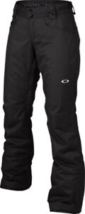 Woman Oakley Insulated Snow Pant, Size XS, Black