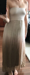 SILK CHIFFON MAXI SKIRT, OR A TUBE DRESS, SIZE S, MADE IN ITALY