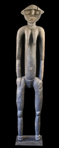 nogwi figure, washkuk hills, nokuma, tribal art, papua new guinea