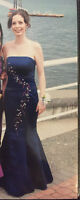 Navy Blue Mermaid Style Size 2 Grad Dress