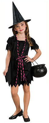 Witch Sorceress Wicked Black Scary Cute Fancy Dress Up Halloween Child Costume