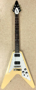 Epiphone 1967 Re Issue Flying V Cream Limited Edition Guitar$499