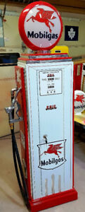 MOBIL GAS GUN LOCKER, STORAGE CABINET, VINTAGE GAS PUMP