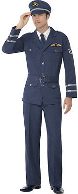ce Pilot Kostüm NEU - Herren Karneval Fasching Verkleidung K (Air Force Kostüm)