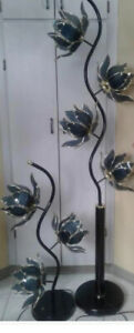 Glass flowers lamps