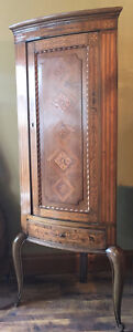 Antique 1920's French Corner Cupboard