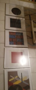 5 New Modern art framed prints Bauhaus / Constructivism