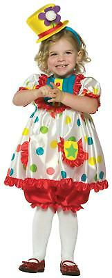 TODDLERS ADORABLE GIRL CLOWN HALLOWEEN COSTUME 2T-4T GC9511 - Toddler Girl Clown Halloween Costumes
