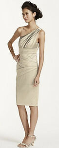 Gold (champagne) short Bridesmaid dress