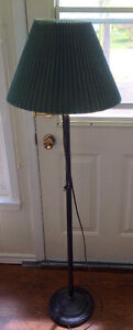 """59"""" Standing lamp with rotating arm, and bulb"""