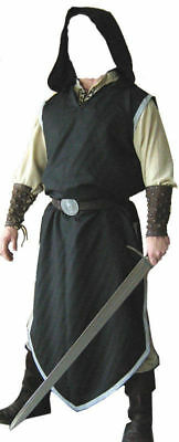 Black Color Medieval Viking Renaissance Clothing Tunic For Reenactment Theater - Renaissance Medieval Clothing