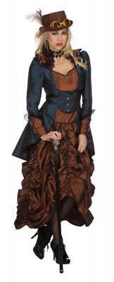 Burlesque Barock Rokoko Steampunk Damen Zylinder Hut Kette Kostüm Kleid Gothic