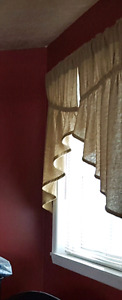 Rustic Burlap Curtains