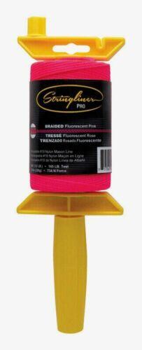 Stringliner Pro PINK Twisted MASON LINE & REEL Handle Thumb Brake 500