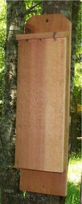 1 Chamber Handcrafted Cedar Bat House Box Pest and Mosquito Control