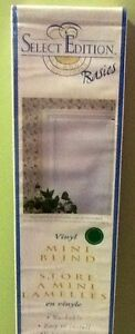 White Vinyl MIni Blind - New in Box
