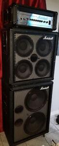 marshall bass/guitar amps full stack 600watts