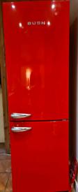 Bush red retro style large fridge freezer