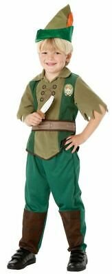 Kids Licensed Disney Peter Pan Boys Book Week Fancy Dress Costume Party Outfit