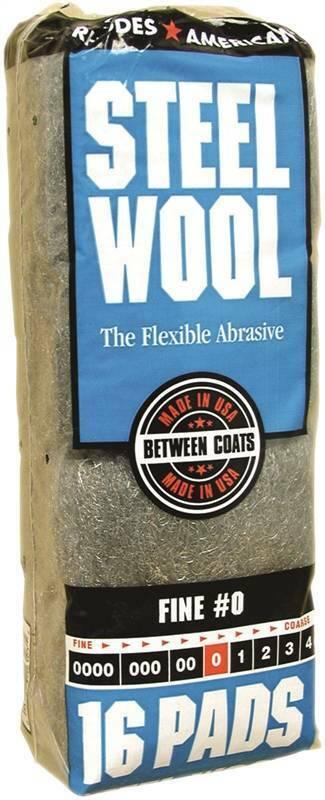 Homax 106603 Steel Wool Pad, NO 0 Grit, 16 Pads per Pack