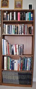 Four sturdy bookcases