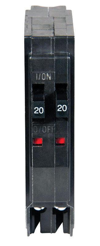 Square D  QOT  Tandem/Single Pole  20/20 amps Circuit Breaker