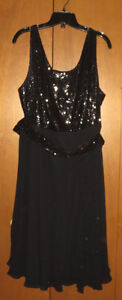 Ursula fancy black Sequin Evening Dress - never used- size 18 London Ontario image 1