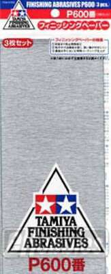 Tamiya 87055 Finishing Abrasives P600 3 Sheets 4950344870554
