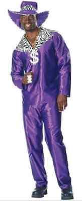 Mac Daddy Hot City Night Purple Pimp Suit Fancy Dress Up Halloween Adult Costume (Purple Pimp Suit)
